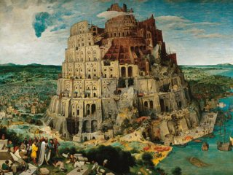 Puzzle RAVENSBURGER 5000 dílků - Pieter Bruegel, Babylonská věž