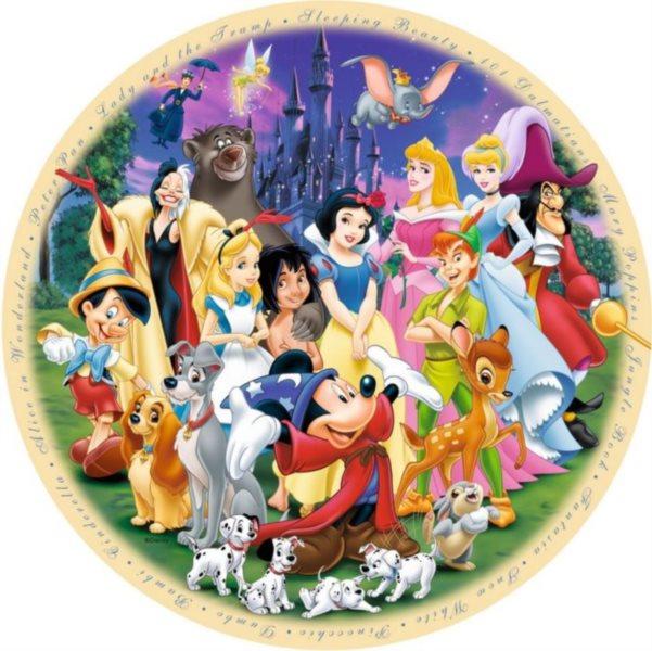 RAVENSBURGER Kulaté puzzle Báječný svět Disney 1000 dílků