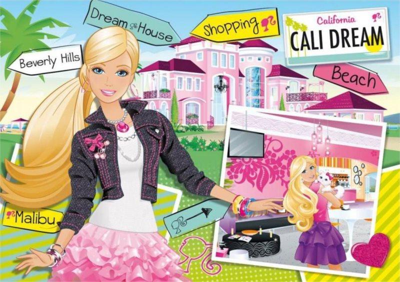 CLEMENTONI puzzle Barbie Dům snů 104 dílků