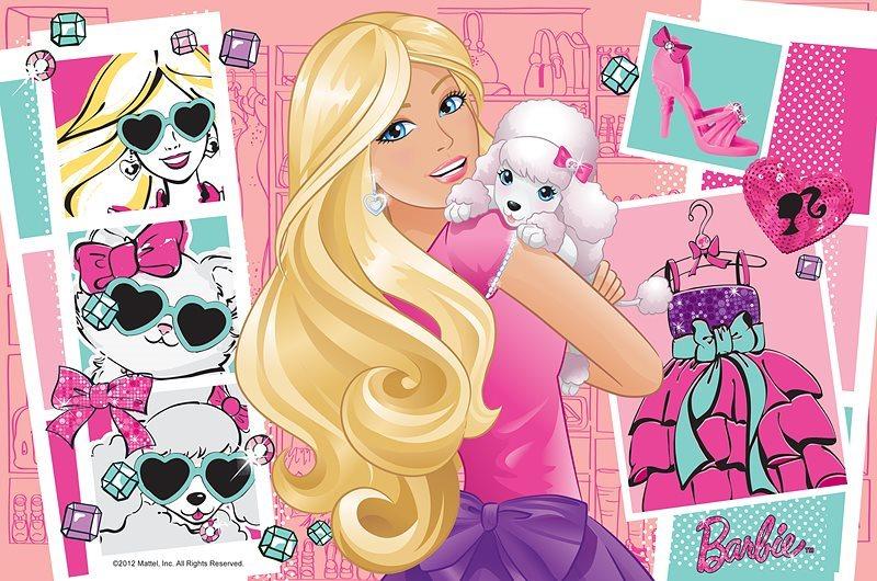Puzzle pro děti TREFL 60 dílků - Barbie: Móda