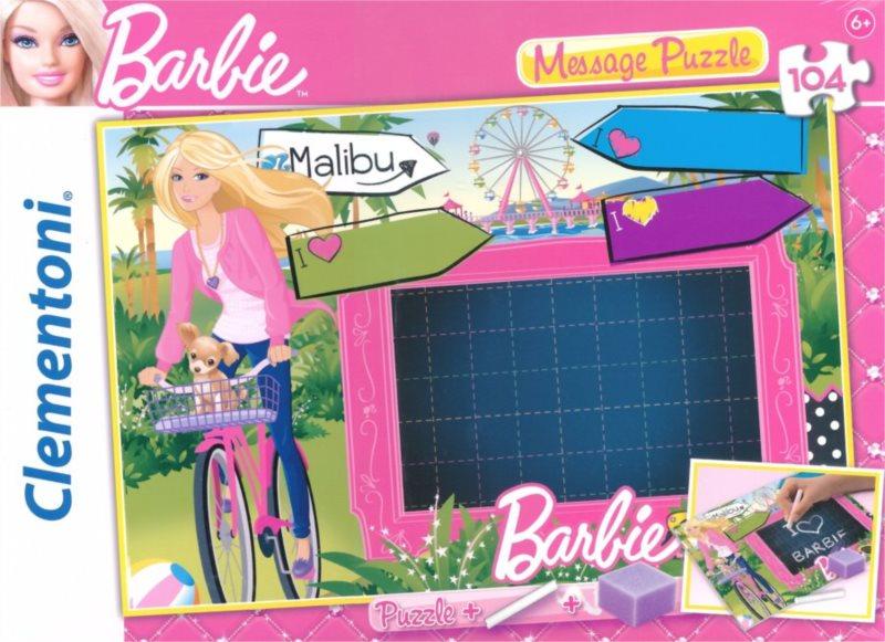 Dětské puzzle - tabulka na vzkazy: Barbie: Napiš zprávu, 104 dílků