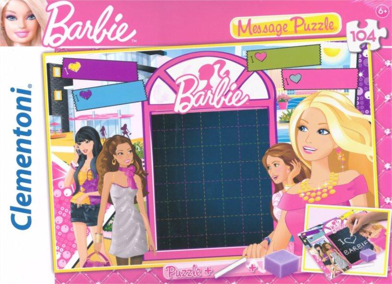 CLEMENTONI Puzzle tabulka Barbie: Zamilovaný vzkaz 104 dílků
