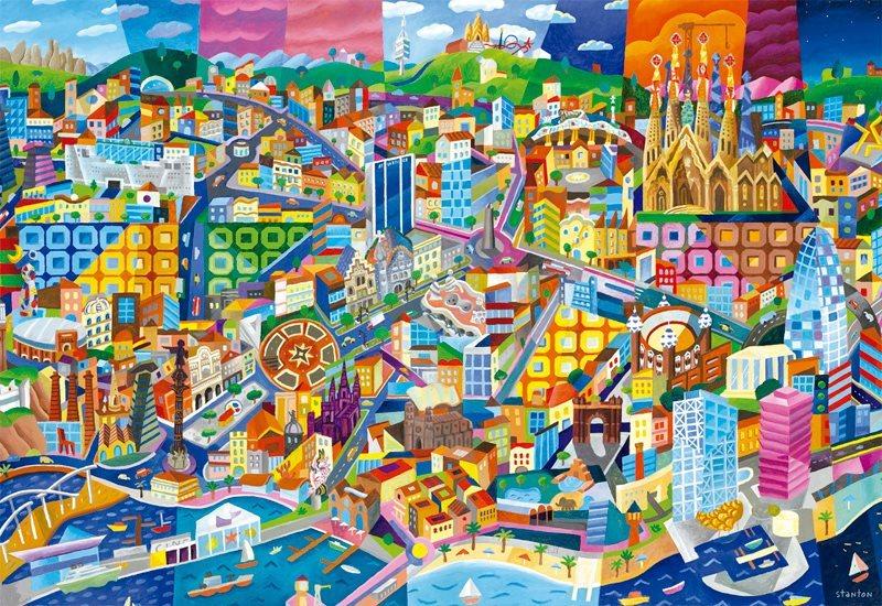 EDUCA Puzzle Barcelona 1500 dílků