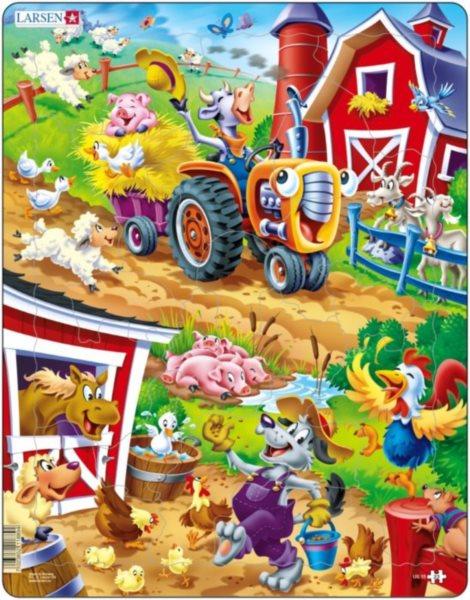 LARSEN Puzzle Barneyho dvorek 22 dílků
