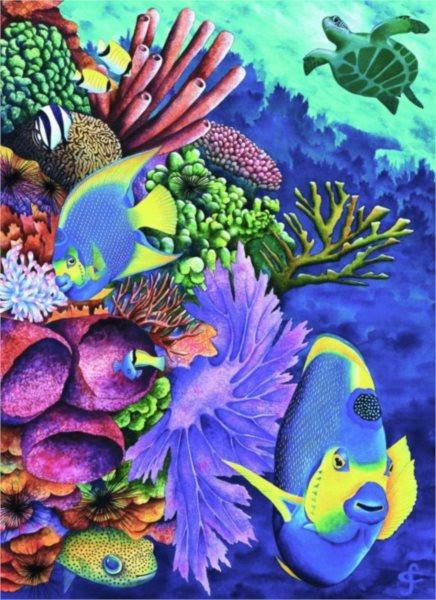 Puzzle RAVENSBURGER 500 dílků - Barvy moře