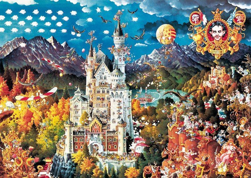 HEYE Puzzle Bavorsko 2000 dílků