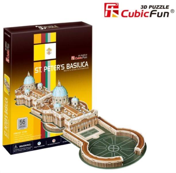 CUBICFUN 3D puzzle Bazilika svatého Petra 56 dílků