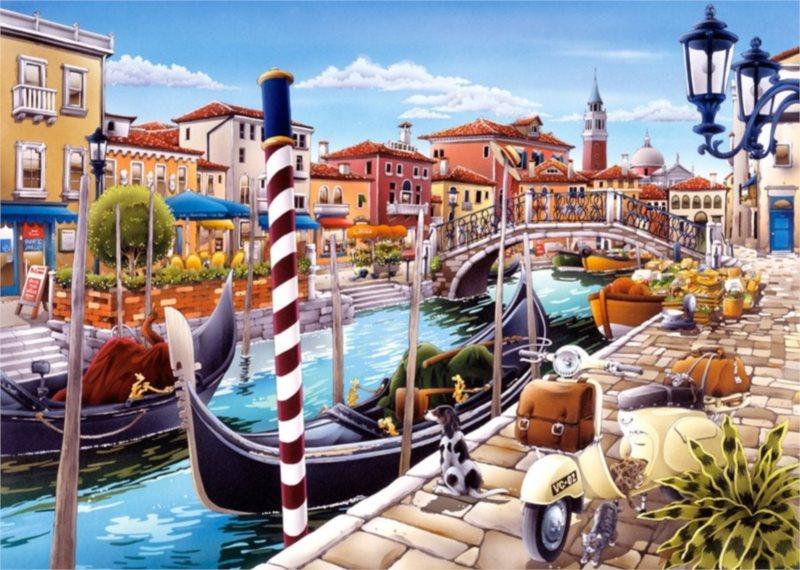 CASTORLAND Puzzle Benátky 1000 dílků