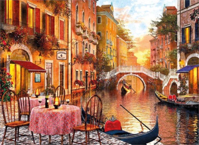 Puzzle CLEMENTONI 1500 dílků - D.Davison: Benátky, Itálie