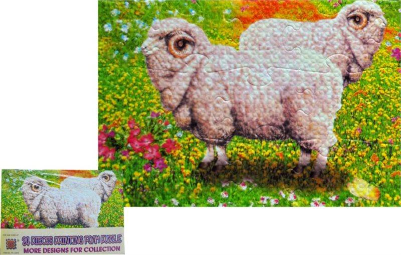 Pěnové puzzle 24 dílků - Berani