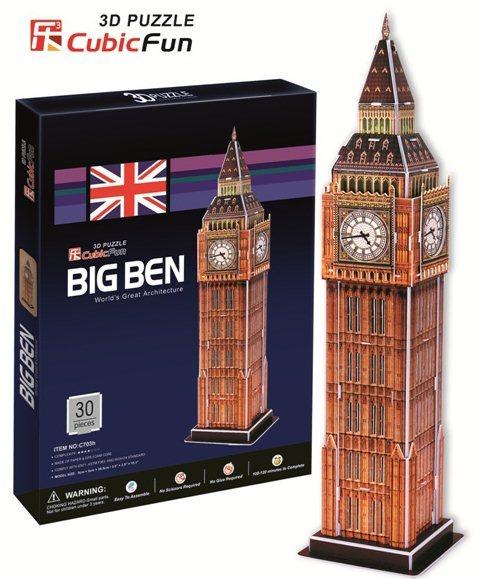 3D puzzle CUBICFUN - Big Ben 3D (malý), Londýn