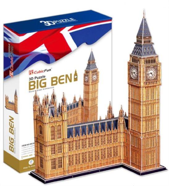 3D puzzle CUBICFUN - Big Ben a Westminsterský palác 3D, Londýn