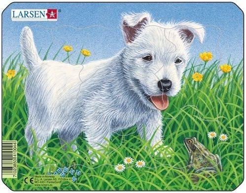 LARSEN Puzzle Bílé štěně 6 dílků