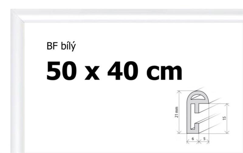 BFHM Plastový rám na puzzle 50x40cm - bílý
