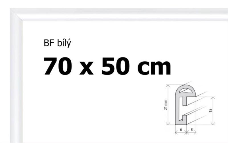 BFHM Plastový rám na puzzle 70x50cm - bílý