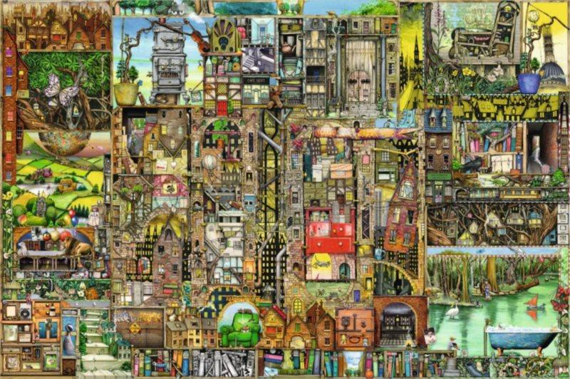 Puzzle RAVENSBURGER 5000 dílků - Bizarní město (Colin Thompson)