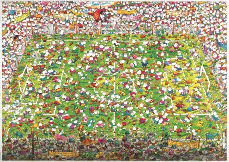 Puzzle HEYE 4000 dílků - Mordillo, Bláznivý fotbal , Triangular