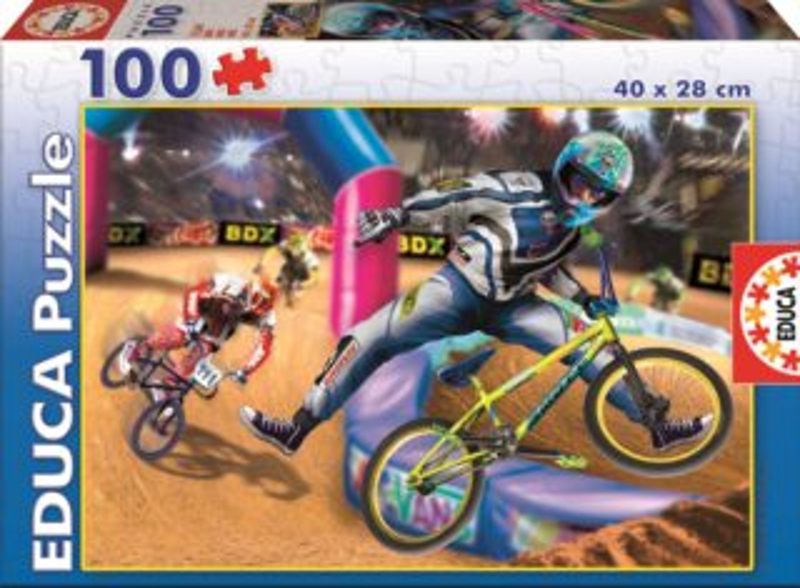 Dětské puzzle EDUCA 100 dílků - BMX