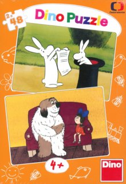 DINO Puzzle Bob a Bobek, Maxipes Fík 2x48 dílků