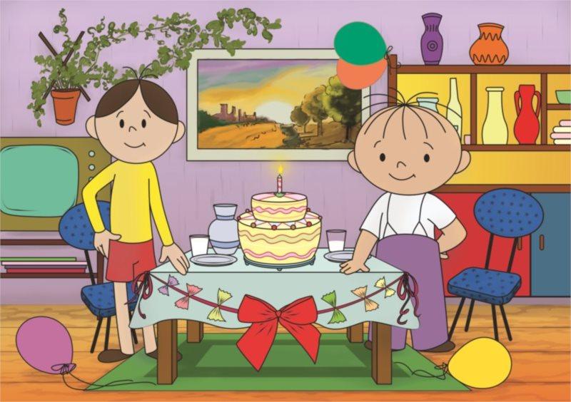 ALEXANDER Puzzle Bolek a Lolek: Narozeninový dort MAXI 20 dílků