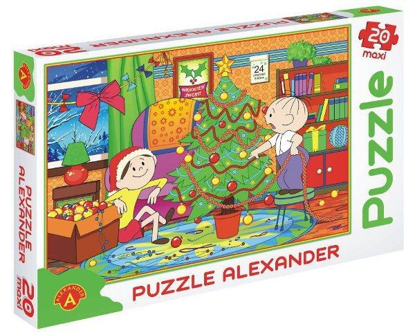 ALEXANDER Puzzle Bolek a Lolek: Vánoční stromeček MAXI 20 dílků
