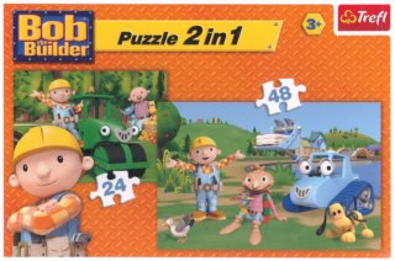 Puzzle pro děti 2v1 - Bořek Stavitel (24 a 48 dílků)