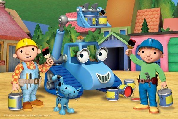 Dětské puzzle TREFL 54 dílků - Bořek stavitel: Bořek a Týna malují