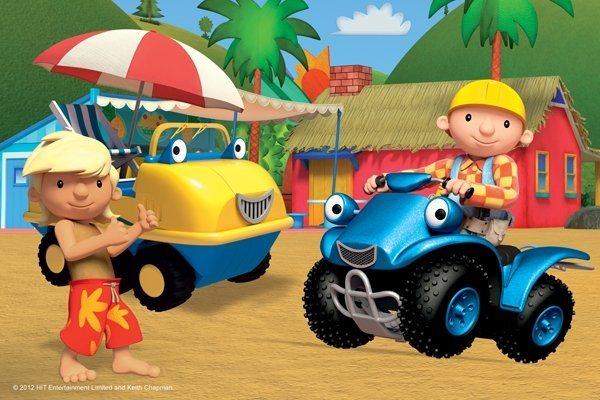 Dětské puzzle TREFL 54 dílků - Bořek stavitel: Na pláži