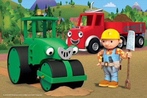 Dětské puzzle TREFL 54 dílků - Bořek stavitel: Rolík pomocníkem