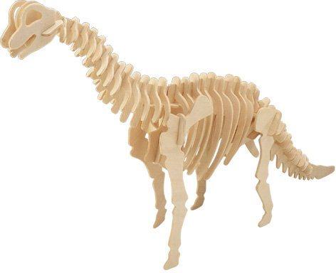 WOODEN TOY , WCK 3D puzzle Brachiosaurus