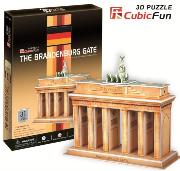CUBICFUN 3D puzzle Braniborská brána 31 dílků