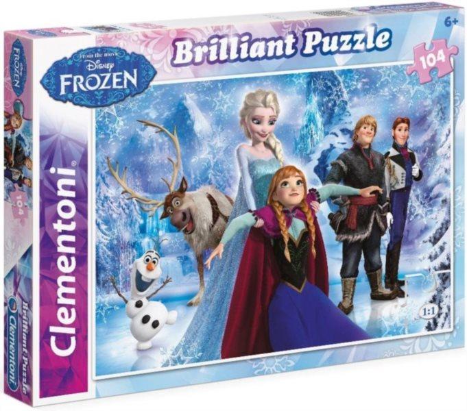CLEMENTONI Briliant puzzle Ledové království 104 dílků