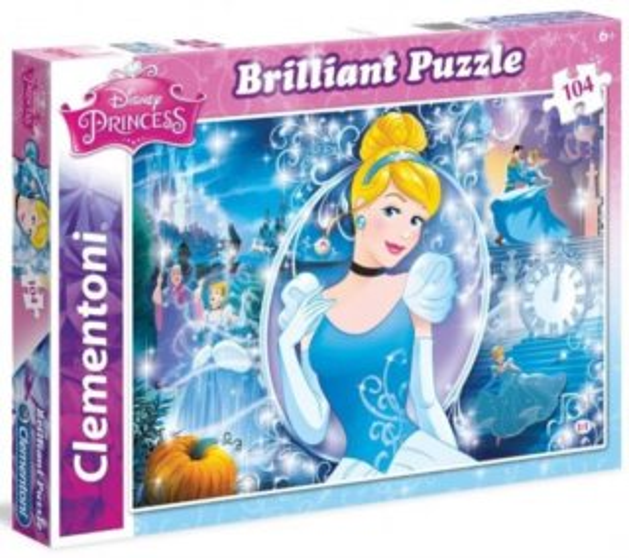 CLEMENTONI Briliant puzzle Popelka 104 dílků