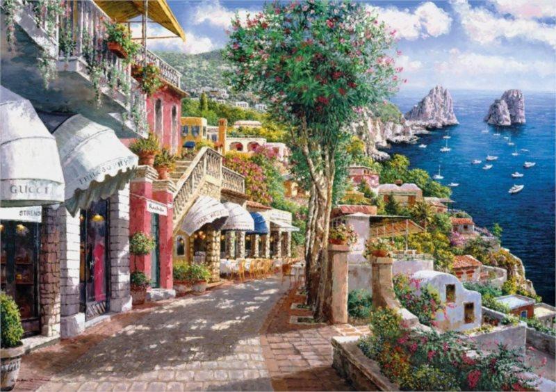 CLEMENTONI Puzzle Capri 1000 dílků