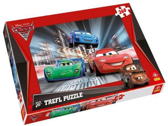 Puzzle pro děti TREFL 260 dílků - Cars 2 (Auta 2)
