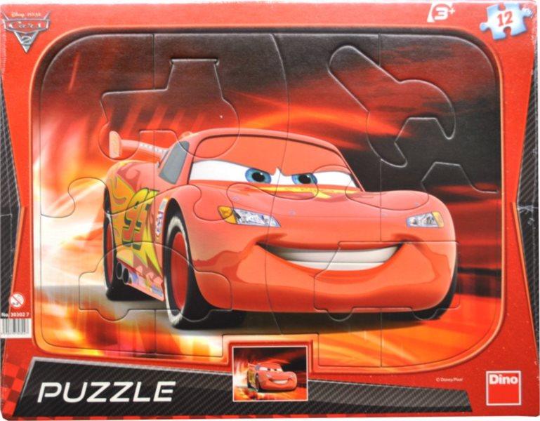 Puzzle s tvary DINO 12 dílků - Cars 2 (Auta 2): Blesk McQueen