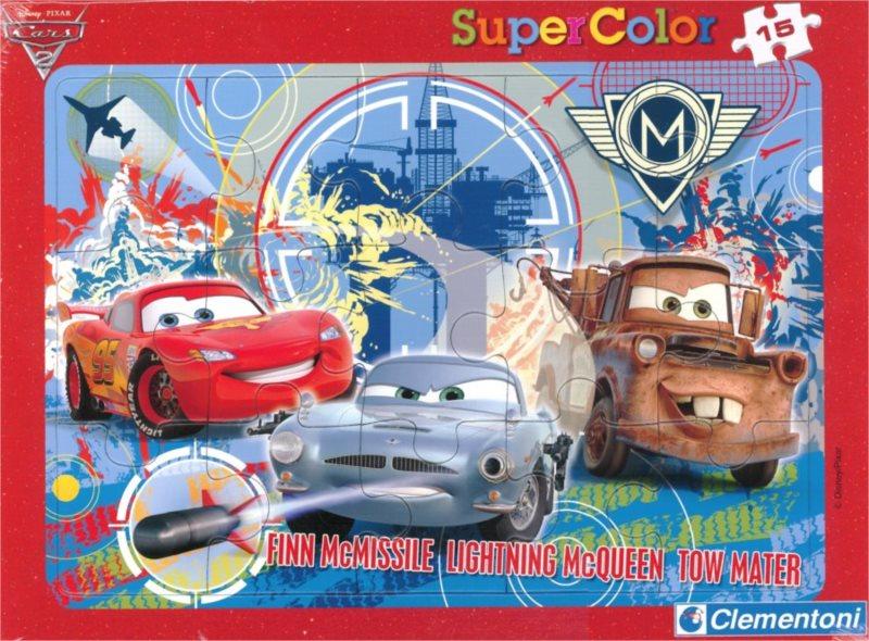 Deskové puzzle CLEMENTONI 15 dílků - Cars 2: Finn McMissile