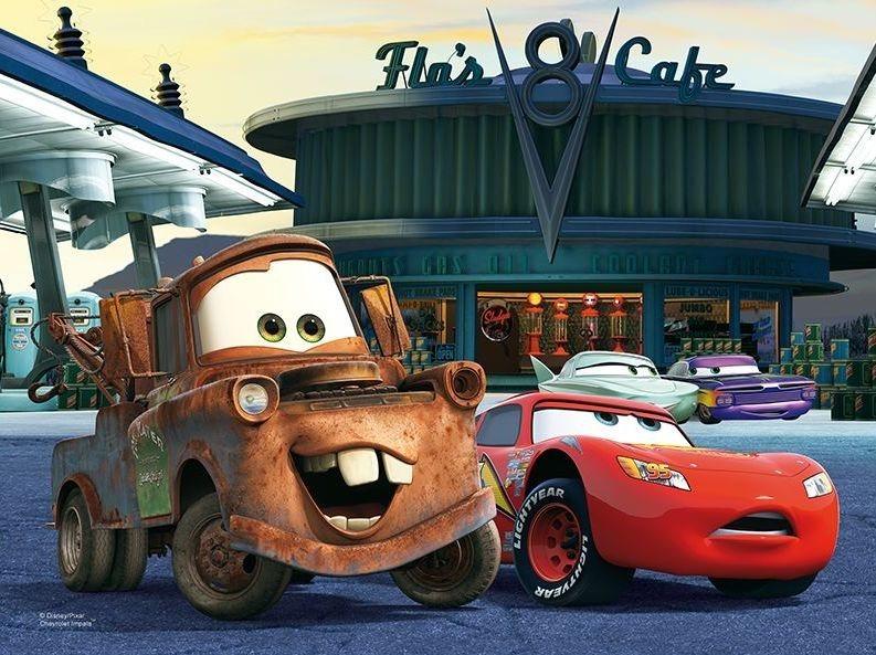 Puzzle pro děti TREFL 30 dílků - Cars (Auta): Na benzínové stanici
