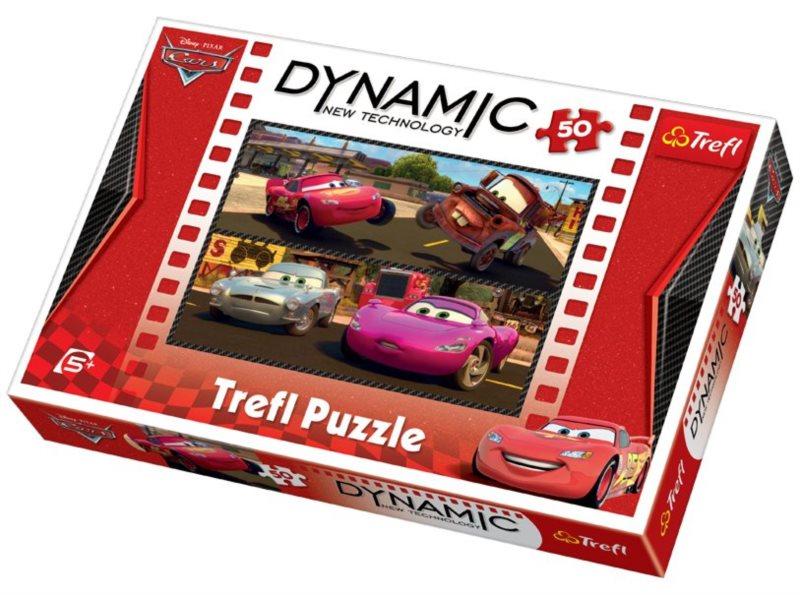 Dynamic puzzle pro děti TREFL 50 dílků - Cars (Auta)