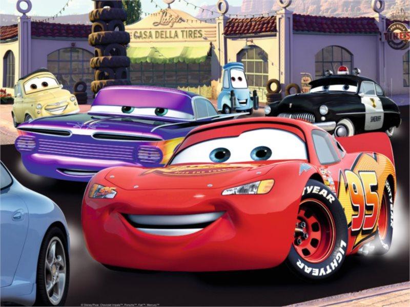 Dětské puzzle RAVENSBURGER 100 dílků - Cars: Nejrychlejší XXL
