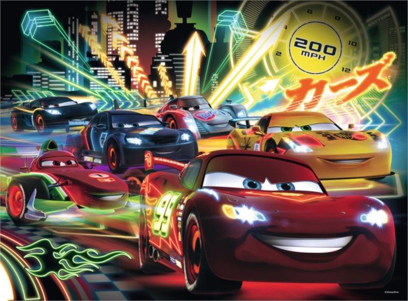 Dětské puzzle RAVENSBURGER 100 dílků - Cars: Neonová světla XXL