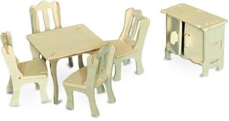 3D dřevěné puzzle Jídelna