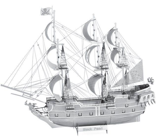 3D kovové puzzle METAL EARTH ICONX: Black Pearl (Černá Perla)