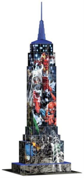 RAVENSBURGER 3D puzzle Empire State Building (Marvel Avengers) 216 dílků