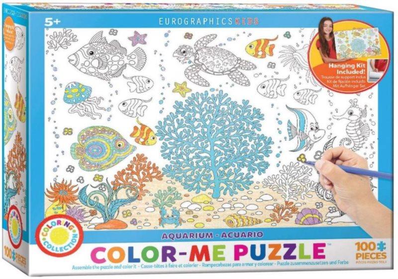 EUROGRAPHICS Color me puzzle Akvárium 100 dílků + sada na zavěšení