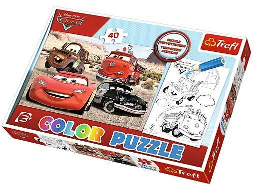 Puzzle pro děti (oboustranné) TREFL 40 dílků - Auta