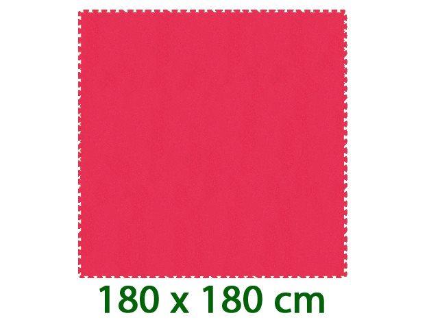 MALÝ GÉNIUS Červený pěnový koberec XL 8mm (59,5x59,5)