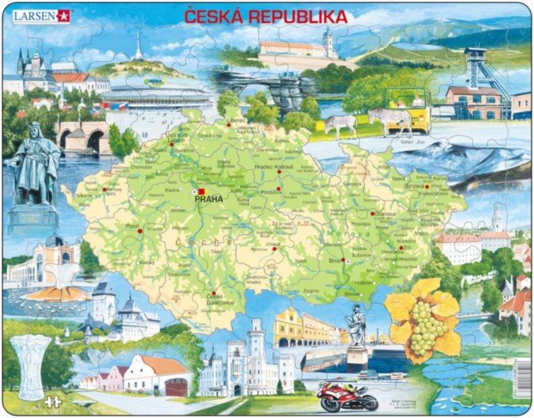 LARSEN Puzzle Česká republika a zajímavosti 78 dílků