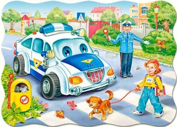 CASTORLAND Puzzle Cesta do školy 30 dílků
