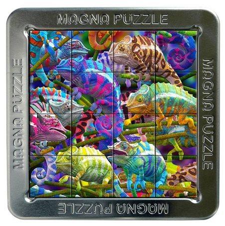 3D magnetické puzzle PIATNIK 16 dílků - Chameleoni